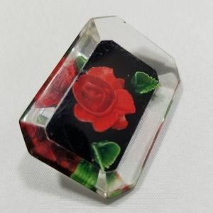 Vintage custom brooch pin jewelry flower lucite